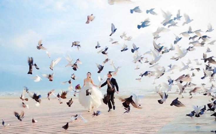 chụp ảnh cưới ở công viên biển Đông có khung cảnh rất đẹp
